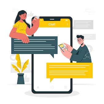 Ilustração do conceito de mensagens