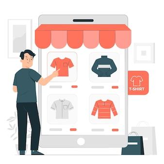 Ilustração do conceito de mercado de serviços de nicho