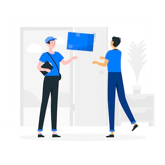 Ilustração do conceito de messenger