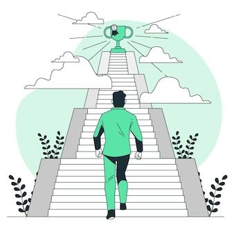 Ilustração do conceito de metas pessoais