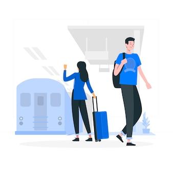 Ilustração do conceito de metrô
