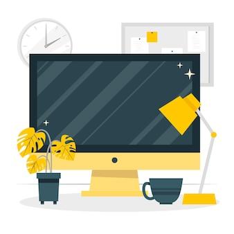 Ilustração do conceito de monitor