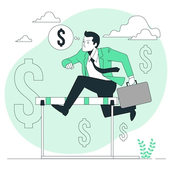 Ilustração do conceito de motivação de dinheiro