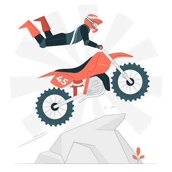 Ilustração do conceito de motocross