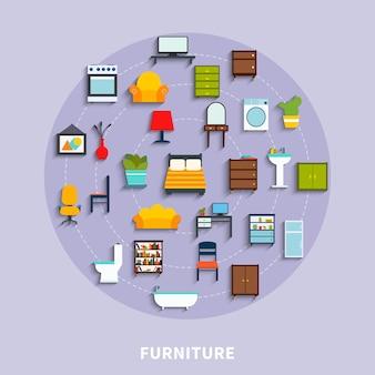 Ilustração do conceito de móveis