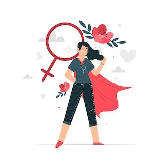 Ilustração do conceito de mulher