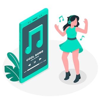 Ilustração do conceito de música