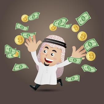 Ilustração do conceito de negócio árabe