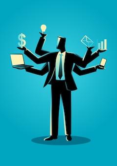 Ilustração do conceito de negócio para multitarefa
