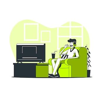 Ilustração do conceito de noite de cinema