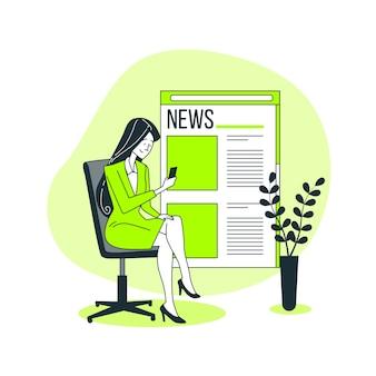 Ilustração do conceito de notícias