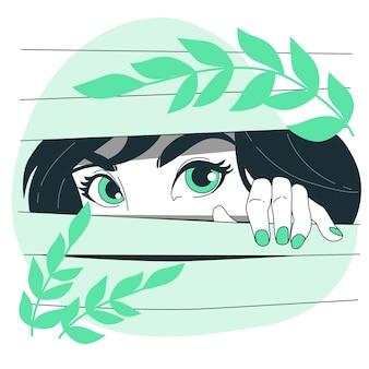 Ilustração do conceito de olhos