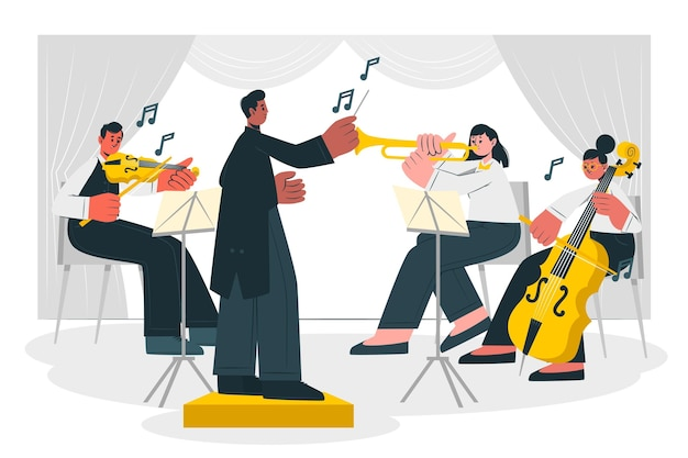 Ilustração do conceito de orquestra