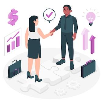 Ilustração do conceito de parceria