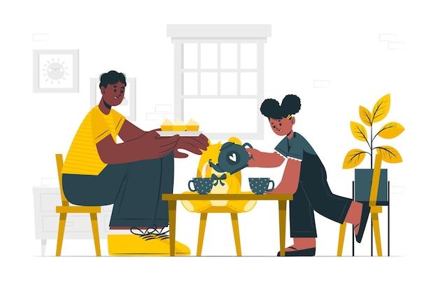 Ilustração do conceito de paternidade