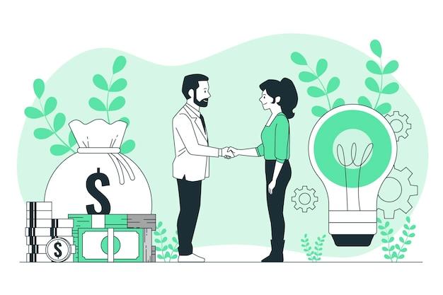Ilustração do conceito de patrocinador