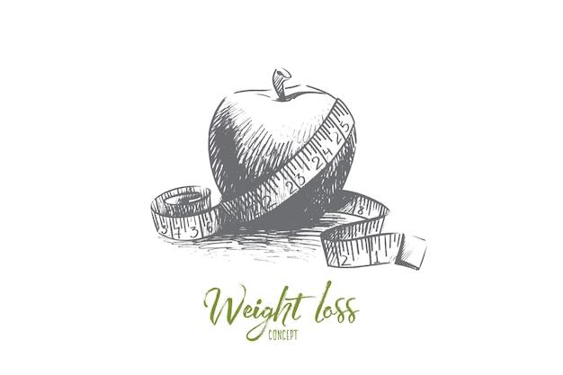 Ilustração do conceito de perda de peso