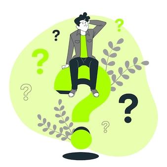Ilustração do conceito de perguntas