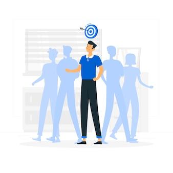 Ilustração do conceito de personalização