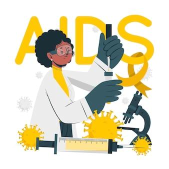 Ilustração do conceito de pesquisa de aids