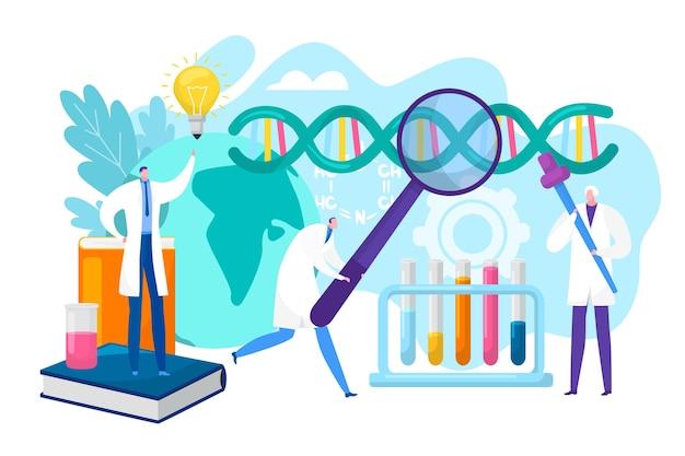 Ilustração do conceito de pesquisa de laboratório
