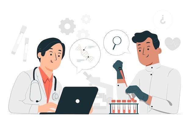 Ilustração do conceito de pesquisa médica