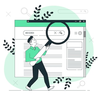 Ilustração do conceito de pesquisa na web