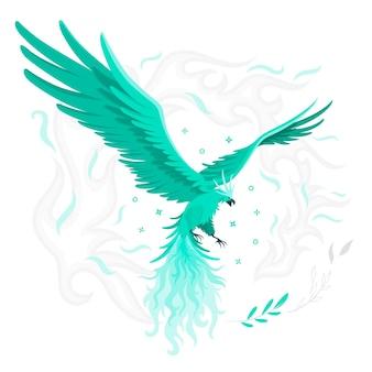 Ilustração do conceito de phoenix voador