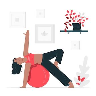Ilustração do conceito de pilates