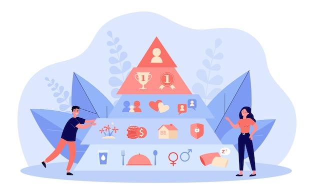 Ilustração do conceito de pirâmide hierárquica