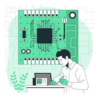 Ilustração do conceito de placa de circuito impresso