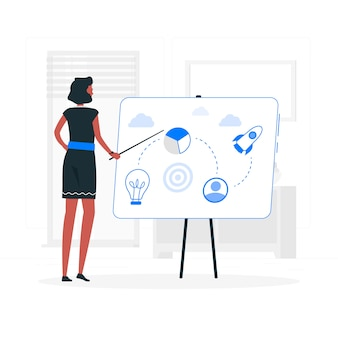 Ilustração do conceito de plano de negócios