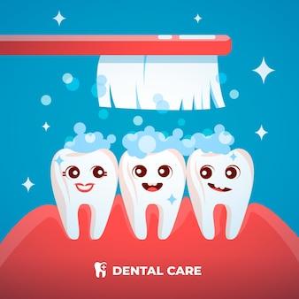 Ilustração do conceito de plano odontológico