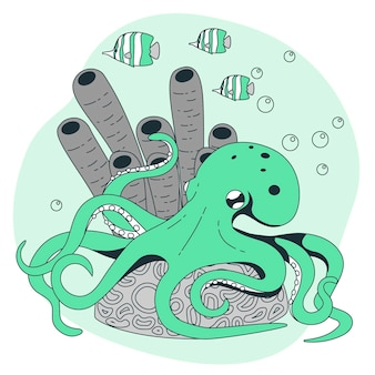 Ilustração do conceito de polvo