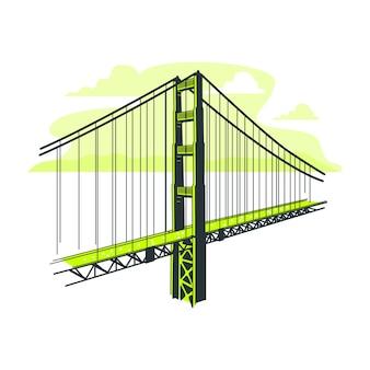 Ilustração do conceito de ponte