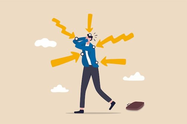 Ilustração do conceito de pontos problemáticos do cliente
