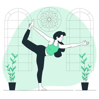 Ilustração do conceito de prática de ioga