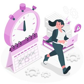 Ilustração do conceito de prazo