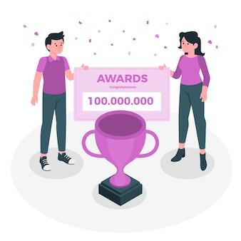 Ilustração do conceito de prêmios