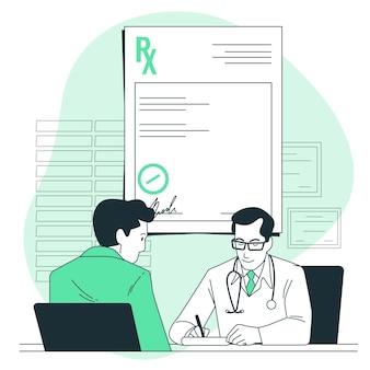 Ilustração do conceito de prescrição médica