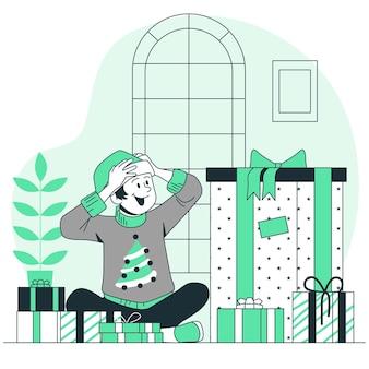 Ilustração do conceito de presentes