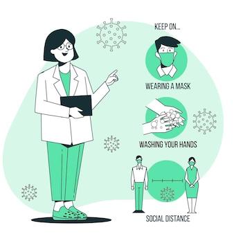 Ilustração do conceito de prevenção de recuperação de epidemia Vetor grátis