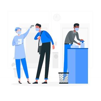 Ilustração do conceito de prevenção de recuperação de epidemia
