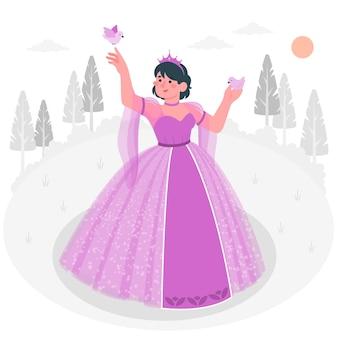 Ilustração do conceito de princesa