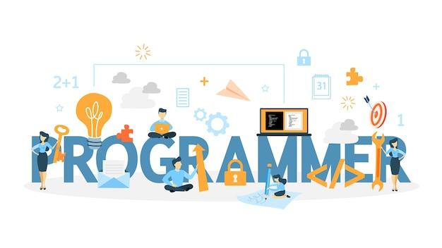Ilustração do conceito de programador.