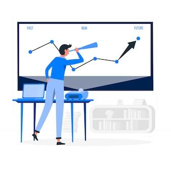 Ilustração do conceito de projeções
