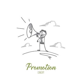 Ilustração do conceito de promoção