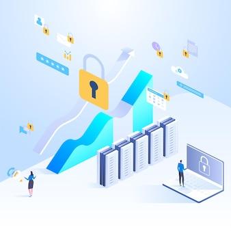 Ilustração do conceito de proteção de dados