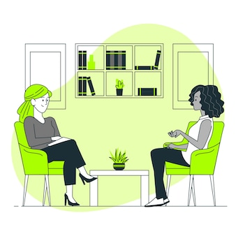 Ilustração do conceito de psicólogo