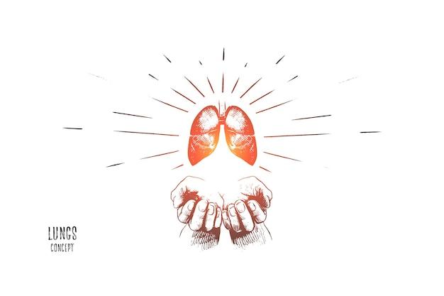 Ilustração do conceito de pulmão